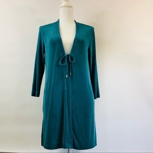 Chico's Travelers 1 Teal Cardigan Duster